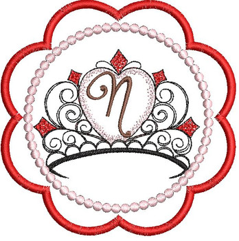 Tiara Coaster ABCs - N - Embroidery Designs