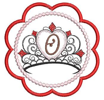 Tiara Coaster ABCs - O - Embroidery Designs
