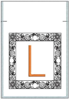 Fall Harvest Font Bag - L - Embroidery Design