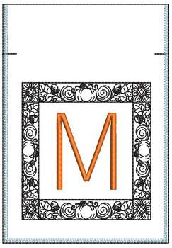 Fall Harvest Font Bag - M - Embroidery Design