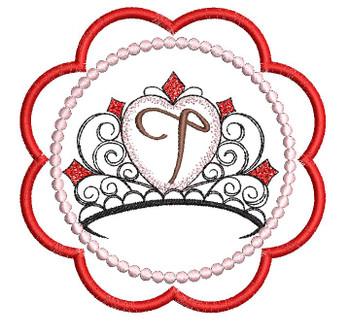 Tiara Coaster ABCs - T - Embroidery Designs
