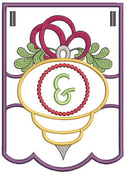 Ornament Bunting Alphabet Ampersand - Embroidery Designs