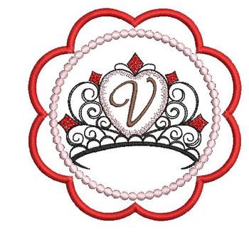 Tiara Coaster ABCs - V - Embroidery Designs