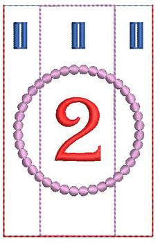 Advent Calendar #2 - Christmas - Embroidery Designs