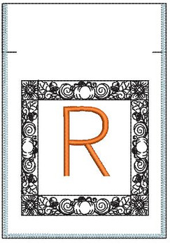 Fall Harvest Font Bag - R - Embroidery Design