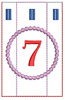 Advent Calendar #7 - Christmas - Embroidery Designs