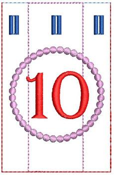 Advent Calendar #10 - Christmas - Embroidery Designs