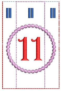 Advent Calendar #11 - Christmas - Embroidery Designs