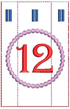 Advent Calendar #12 - Christmas - Embroidery Designs