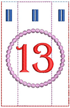 Advent Calendar #13 - Christmas - Embroidery Designs