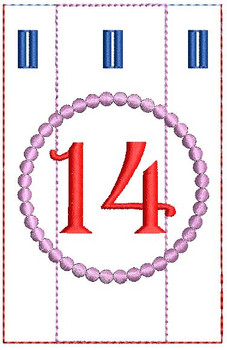 Advent Calendar #14 - Christmas - Embroidery Designs