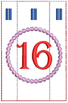 Advent Calendar #16 - Christmas - Embroidery Designs
