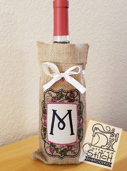 Wine Bottle Sack - A - Embroidery Designs