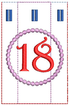 Advent Calendar #18 - Christmas - Embroidery Designs