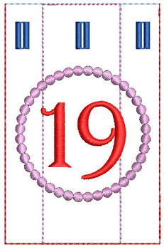 Advent Calendar #19 - Christmas - Embroidery Designs