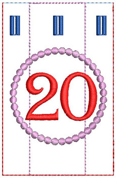 Advent Calendar #20 - Christmas - Embroidery Designs