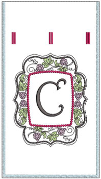 Wine Bottle Sack - C - Embroidery Designs
