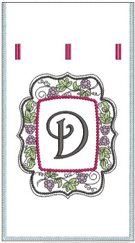 Wine Bottle Sack - D - Embroidery Designs