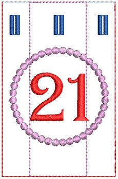 Advent Calendar #21 - Christmas - Embroidery Designs