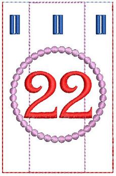 Advent Calendar #22 - Christmas - Embroidery Designs