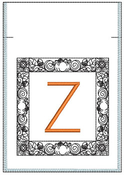 Fall Harvest Font Bag - Z - Embroidery Design
