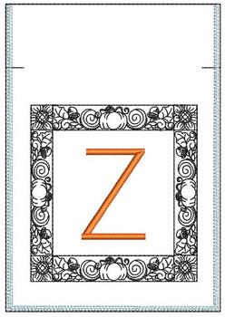 Fall Harvest Font Bag - Z - Embroidery Design