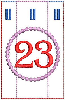 Advent Calendar #23 - Christmas - Embroidery Designs