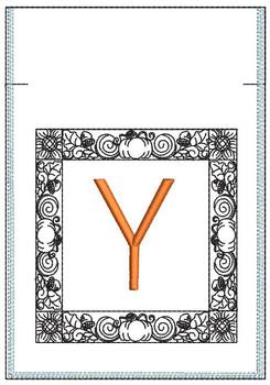 Fall Harvest Font Bag - Y - Embroidery Design