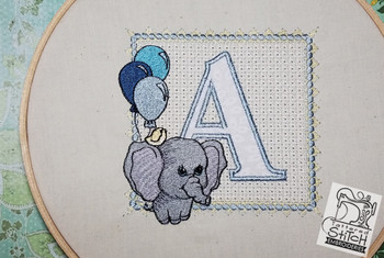 Ellie Font Applique - A - Embroidery Design