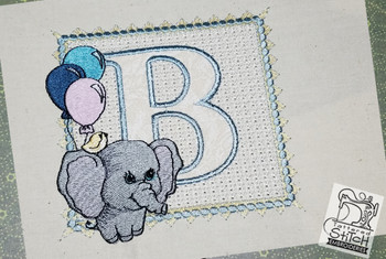 Ellie Font Applique - B - Embroidery Design