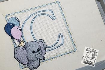 Ellie Font Applique - C - Embroidery Design