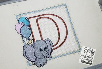 Ellie Font Applique - D - Embroidery Design