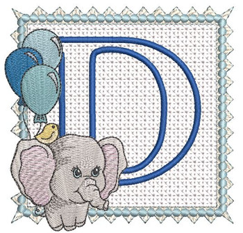 Ellie Font Applique - D - Embroidery Design