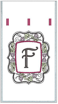 Wine Bottle Sack - F - Embroidery Designs