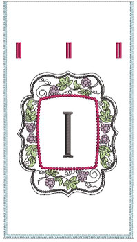 "Wine Bottle Sack - I - Fits in a 6 x 11"" Hoop - Instant Downloadable Machine Embroidery"