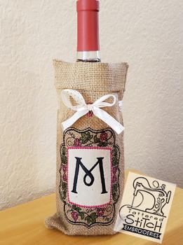 Wine Bottle Sack Bundle - K-O - Embroidery Designs