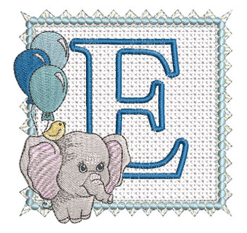 Ellie Font Applique - E - Embroidery Design