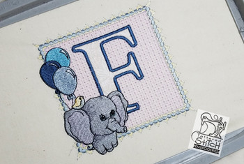 Ellie Font Applique - F - Embroidery Design