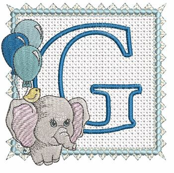Ellie Font Applique - G - Embroidery Design