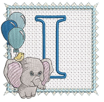Ellie Font Applique - I - Embroidery Design