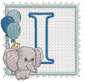 Ellie Font Applique - I - Embroidery Design