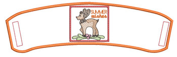 """Summer Wishes Beverage Cozie - Fits a 6 by 12"""" Hoop - Instant Downloadable Machine Embroidery"""