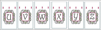 "Wine Bottle Sack - Patterns U through Z - Bundle - Fits a 6 by 11"" Hoop - Instant Downloadable Machine Embroidery- Light Fill Stitch"