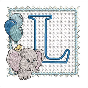 Ellie Font Applique - L - Embroidery Design