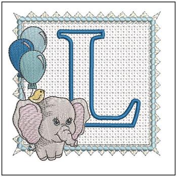 Ellie Font Applique - L - Embroidery Design