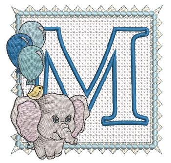 Ellie Font Applique - M - Embroidery Design