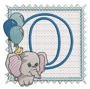 Ellie Font Applique - O - Embroidery Design