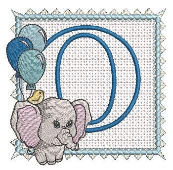 Ellie Font Applique - O - Embroidery Design