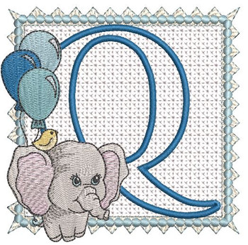 Ellie Font Applique - Q - Embroidery Design