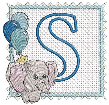Ellie Font Applique - S - Embroidery Design